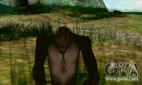 Sasquatch (Bigfoot) en el monte Chiliad para GTA San Andreas