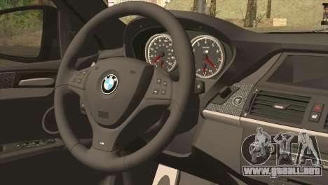 BMW X6M Lumma para GTA San Andreas vista posterior izquierda