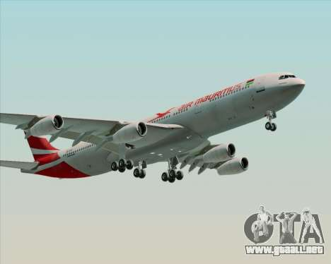 Airbus A340-312 Air Mauritius para GTA San Andreas left