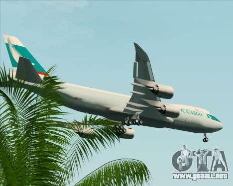 Boeing 747-8 Cargo Cathay Pacific Cargo para las ruedas de GTA San Andreas