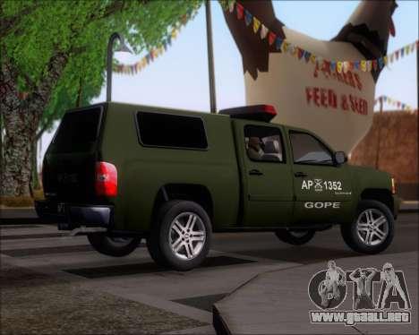 Chevrolet Silverado Gope para la visión correcta GTA San Andreas