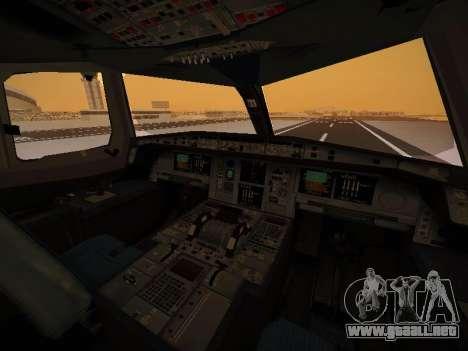 Airbus A380-800 Lufthansa para GTA San Andreas interior