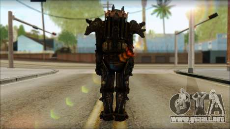 Enclave Tesla Soldier from Fallout 3 para GTA San Andreas segunda pantalla