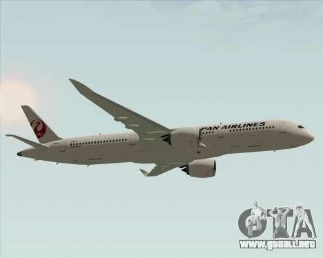 Airbus A350-941 Japan Airlines para visión interna GTA San Andreas