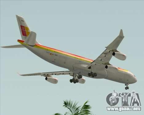 Airbus A340 -313 Iberia para vista lateral GTA San Andreas