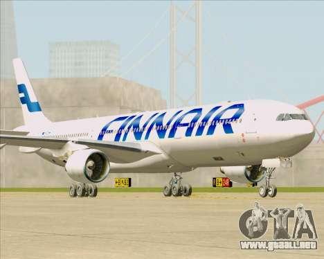 Airbus A330-300 Finnair (Current Livery) para GTA San Andreas vista posterior izquierda