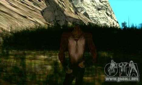 Sasquatch (Bigfoot) en el monte Chiliad para GTA San Andreas segunda pantalla