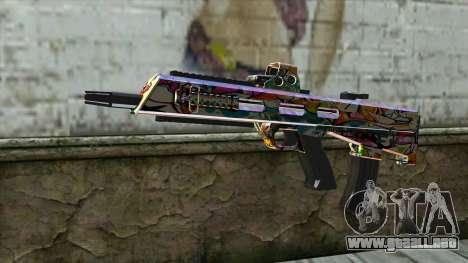 Graffiti Assault rifle para GTA San Andreas