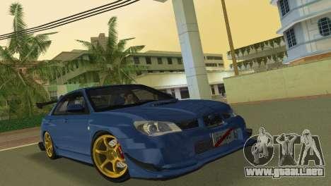 Subaru Impreza WRX STI 2006 Type 2 para GTA Vice City left