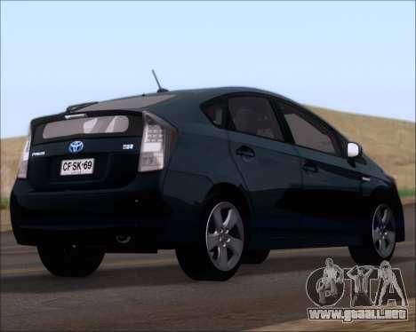 Toyota Prius para GTA San Andreas left