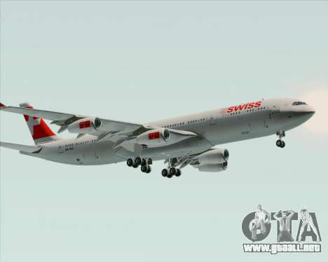 Airbus A340-313 Swiss International Airlines para GTA San Andreas vista hacia atrás