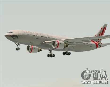 Airbus A330-200 Virgin Australia para visión interna GTA San Andreas