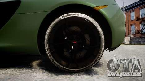 McLaren 650S Spider 2014 [EPM] Continental para GTA 4 vista hacia atrás