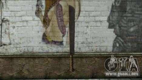 Machete from Assassins Creed 4: Freedom Cry para GTA San Andreas segunda pantalla