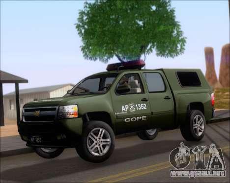 Chevrolet Silverado Gope para GTA San Andreas left