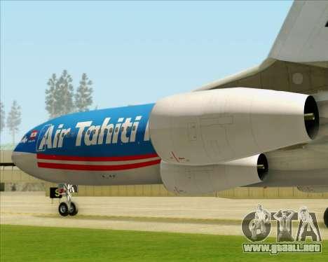 Airbus A340-313 Air Tahiti Nui para las ruedas de GTA San Andreas