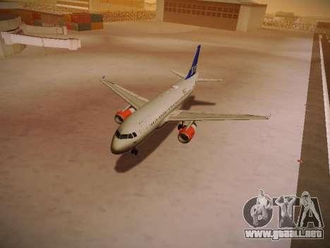 Airbus A319-132 Scandinavian Airlines para las ruedas de GTA San Andreas