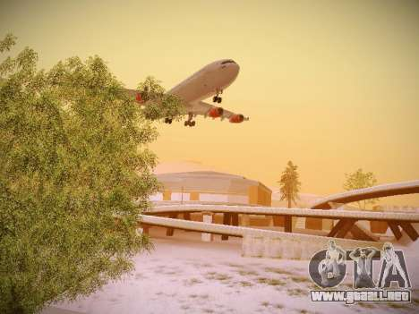 Airbus A340-300 Scandinavian Airlines para visión interna GTA San Andreas