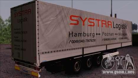 Krone SPD27 Systra Logistik para GTA San Andreas left