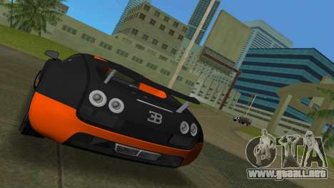 Bugatti Veyron Super Sport para GTA Vice City vista lateral izquierdo