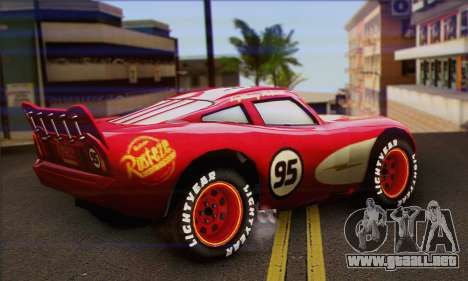 Lightning McQueen Radiator Springs para GTA San Andreas left