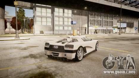 Entity XF para GTA 4 Vista posterior izquierda