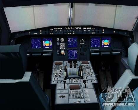 Airbus A340-313 Swiss International Airlines para vista inferior GTA San Andreas
