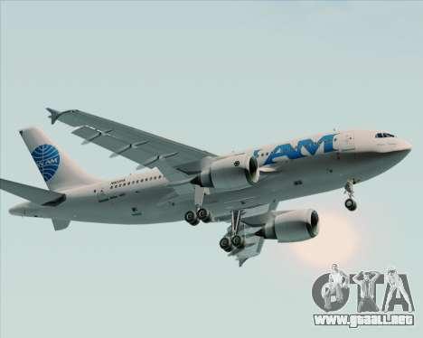 Airbus A310-324 Pan American World Airways para GTA San Andreas vista posterior izquierda