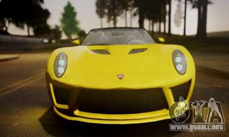 Voltic from GTA 5 (IVF) para GTA San Andreas vista posterior izquierda