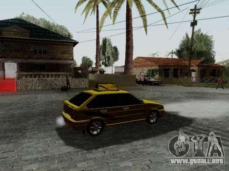 VAZ 2114 TMK afterburner para la visión correcta GTA San Andreas