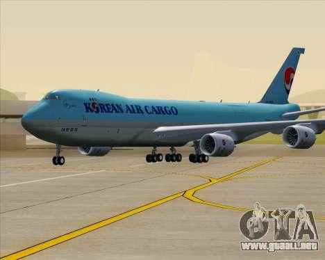 Boeing 747-8 Cargo Korean Air Cargo para la vista superior GTA San Andreas