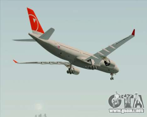 Airbus A330-300 Northwest Airlines para la vista superior GTA San Andreas
