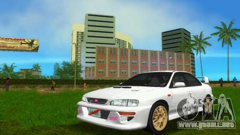 Subaru Impreza WRX STI GC8 Sedan Type 3 para GTA Vice City vista lateral izquierdo