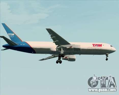 Boeing 767-300ER F TAM Cargo para vista lateral GTA San Andreas
