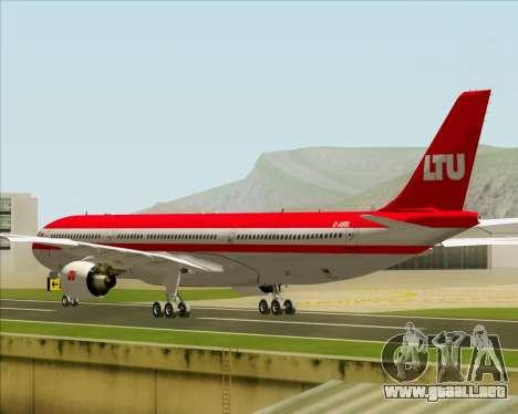 Airbus A330-300 LTU International para la visión correcta GTA San Andreas