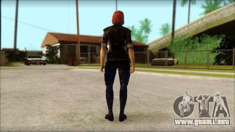 Mass Effect Anna Skin v9 para GTA San Andreas segunda pantalla