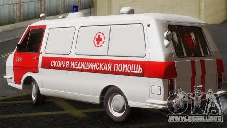 RAF 22031 Letonia - Ambulancia para GTA San Andreas left