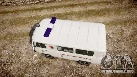 UAZ-39629 ambulancia Hungría para GTA 4 visión correcta