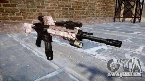Automatic rifle Colt M4A1 cereza blososm para GTA 4
