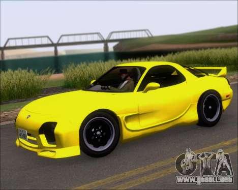 Mazda RX-7 FD3S A-Spec para vista lateral GTA San Andreas