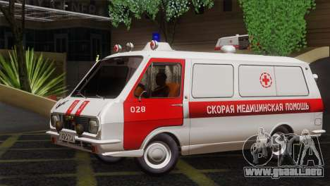 RAF 22031 Letonia - Ambulancia para GTA San Andreas