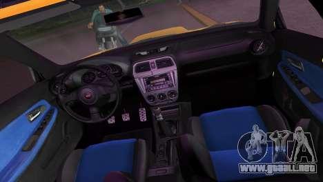 Subaru Impreza WRX STI 2006 Type 2 para GTA Vice City vista lateral