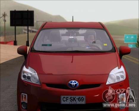 Toyota Prius para vista lateral GTA San Andreas