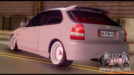 Honda Civic 1.4 Hatchback para GTA San Andreas left