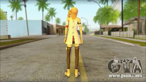 Sarah from Final Fantasy XIII para GTA San Andreas segunda pantalla
