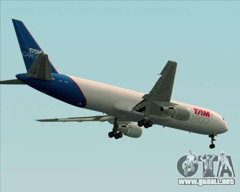 Boeing 767-300ER F TAM Cargo para las ruedas de GTA San Andreas