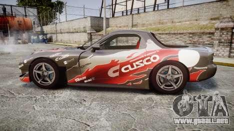 Mazda RX-7 Cusco para GTA 4 left
