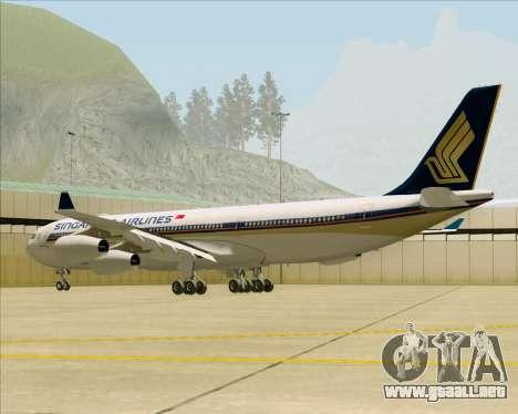 Airbus A340-313 Singapore Airlines para la visión correcta GTA San Andreas