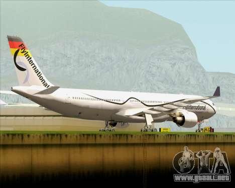 Airbus A330-300 Fly International para la visión correcta GTA San Andreas