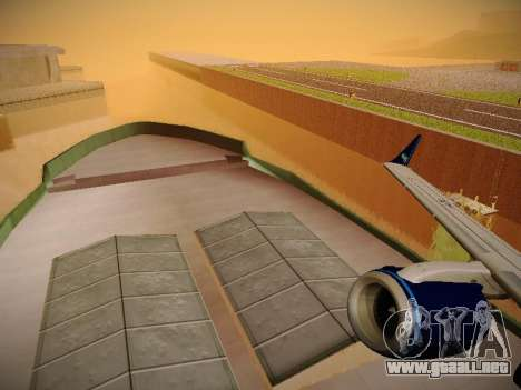 Embraer E190 Azul Tudo Azul para vista inferior GTA San Andreas